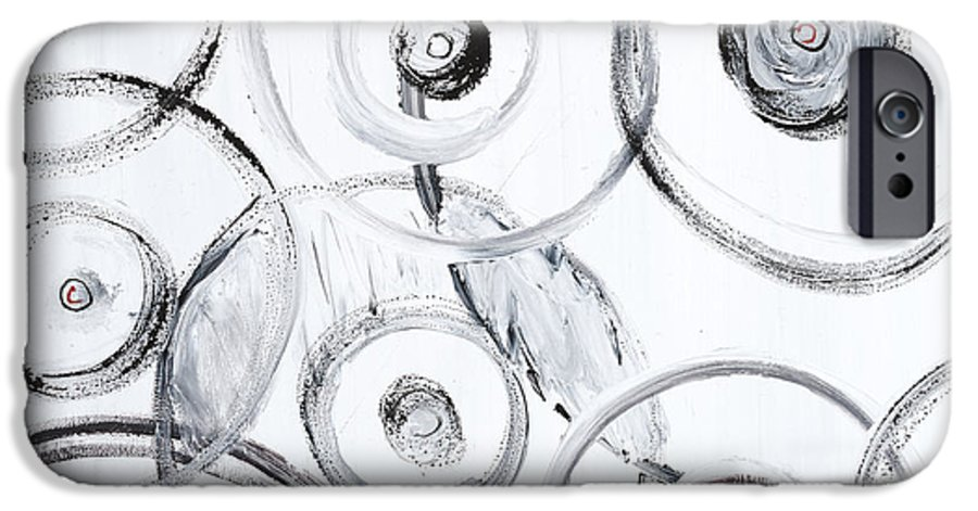 Circles IPhone 6 Case featuring the painting Choices In White by Nadine Rippelmeyer