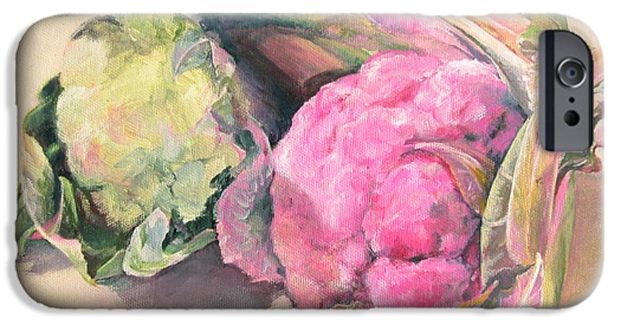 Flower IPhone 6 Case featuring the painting Choux by Muriel Dolemieux