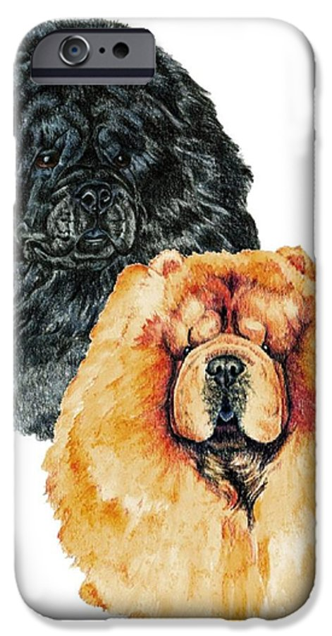 Chow Chow IPhone 6 Case featuring the painting Chow Chows by Kathleen Sepulveda