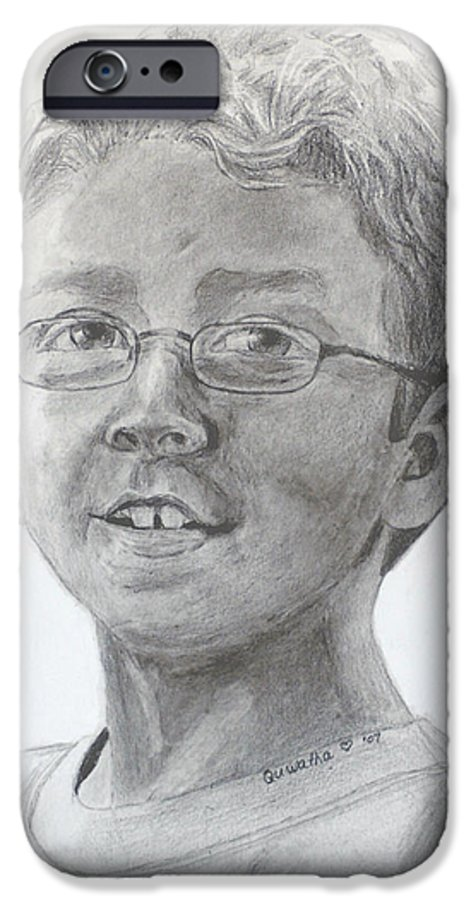Chris IPhone 6 Case featuring the drawing Chris Dovick by Quwatha Valentine