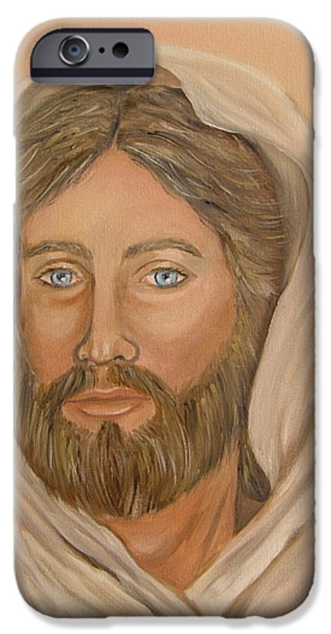 Christ IPhone 6 Case featuring the painting Christ by Quwatha Valentine