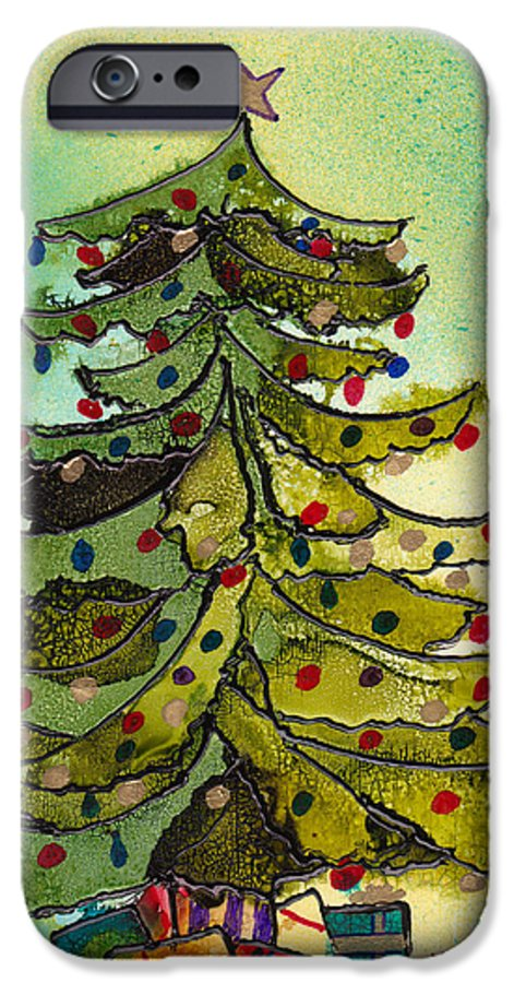 Christmas IPhone 6 Case featuring the painting Christmas Morning 2008 by Susan Kubes