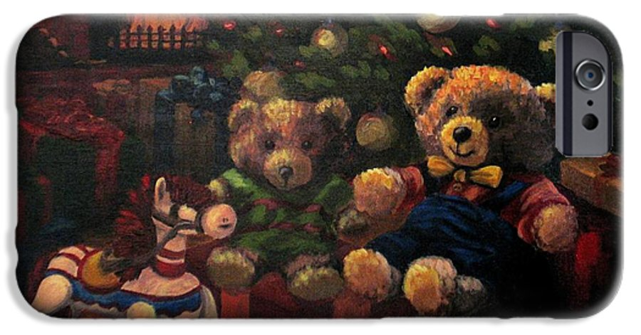 Christmas IPhone 6 Case featuring the painting Christmas Past by Karen Ilari