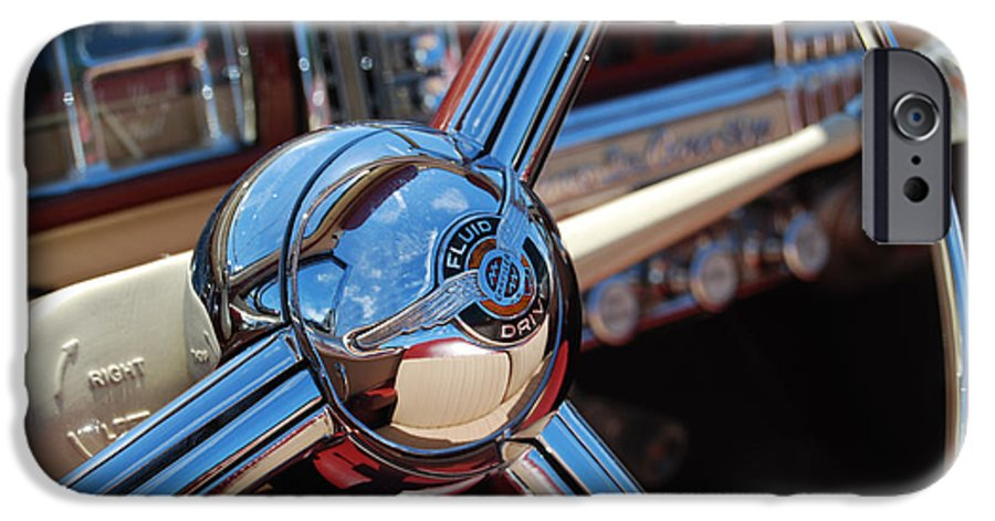 Classics IPhone 6 Case featuring the photograph Chrysler Town And Country Steering Wheel by Larry Keahey