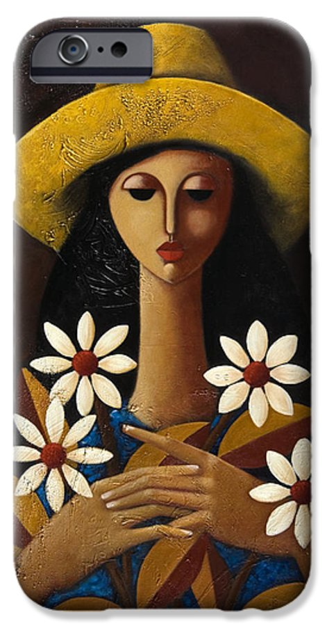 Puerto Rico IPhone 6 Case featuring the painting Cinco Margaritas by Oscar Ortiz
