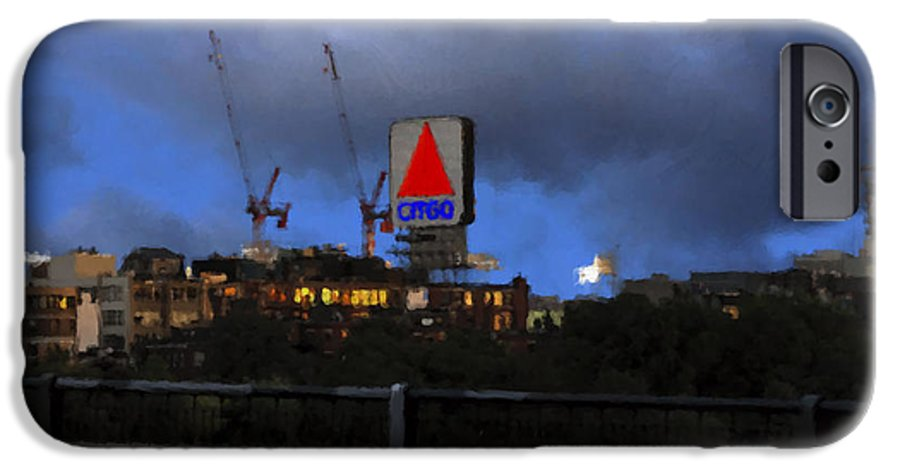 Citgo Sign IPhone 6 Case featuring the digital art Citgo Sign by Edward Cardini