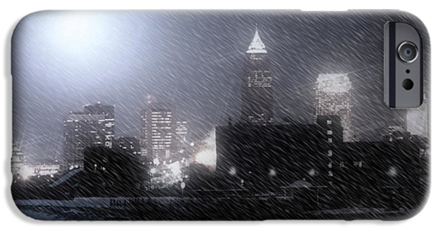 Cleveland IPhone 6 Case featuring the photograph City Bathed In Winter by Kenneth Krolikowski