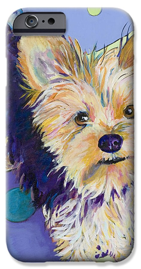 Pet Portraits IPhone 6 Case featuring the painting Claire by Pat Saunders-White