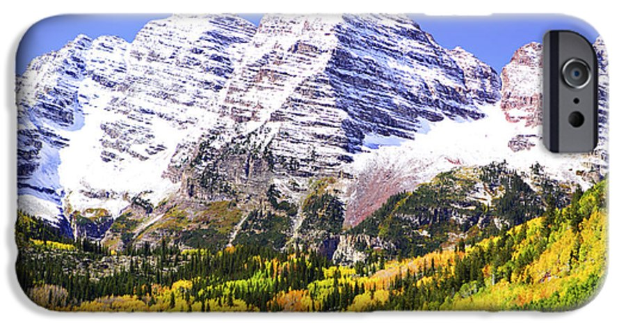 Americana IPhone 6 Case featuring the photograph Classic Maroon Bells by Marilyn Hunt