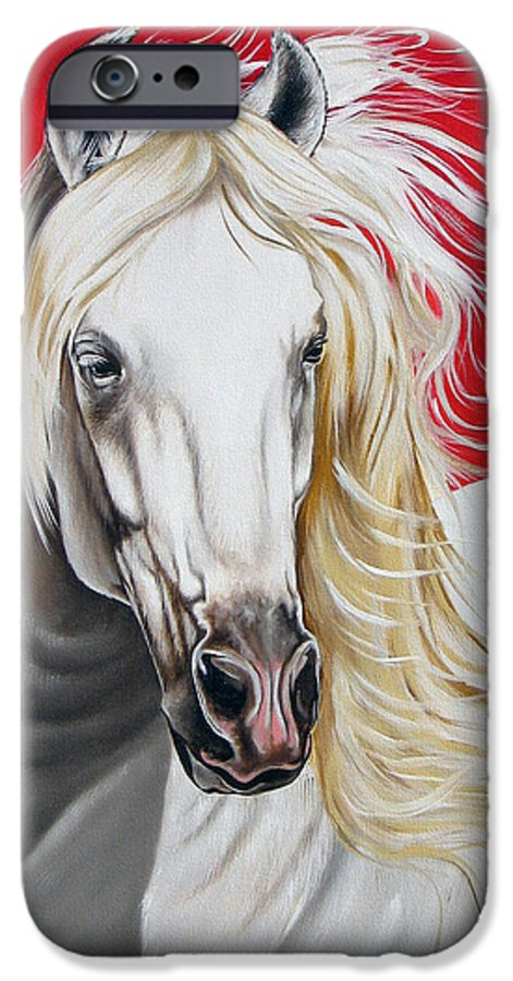 Horse IPhone 6 Case featuring the painting Cleo by Ilse Kleyn