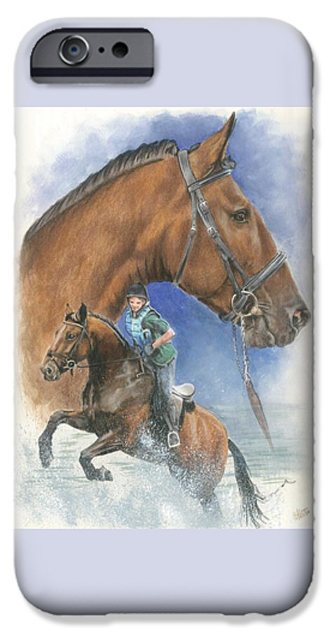 Hunter Jumper IPhone 6 Case featuring the mixed media Cleveland Bay by Barbara Keith