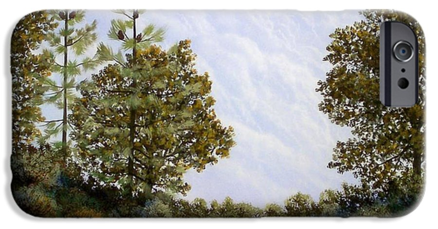 Landscape IPhone 6 Case featuring the painting Clouds In Foothills by Frank Wilson
