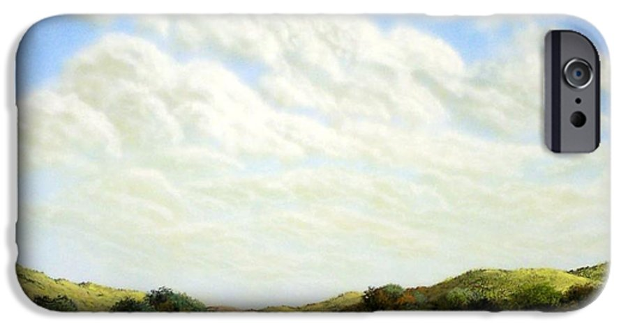 Landscape IPhone 6 Case featuring the painting Clouds Of Spring by Frank Wilson