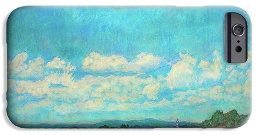 Landscape IPhone 6 Case featuring the painting Clouds Over Fairlawn by Kendall Kessler