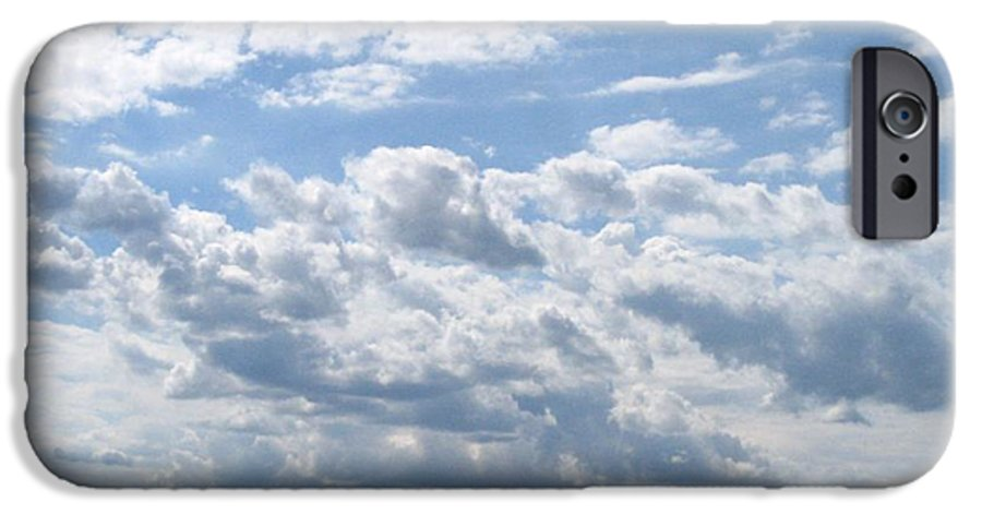 Clouds IPhone 6 Case featuring the photograph Cloudy by Rhonda Barrett