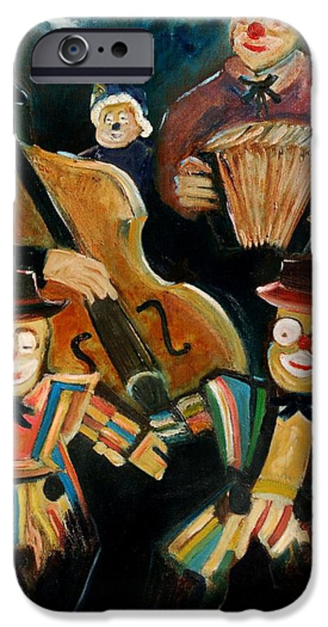 Clowns Circus IPhone 6 Case featuring the print Clowns by Pol Ledent