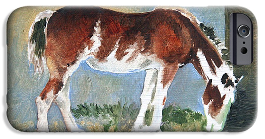 Horse IPhone 6 Case featuring the painting Clydesdale Colt Pad by Eileen Hale