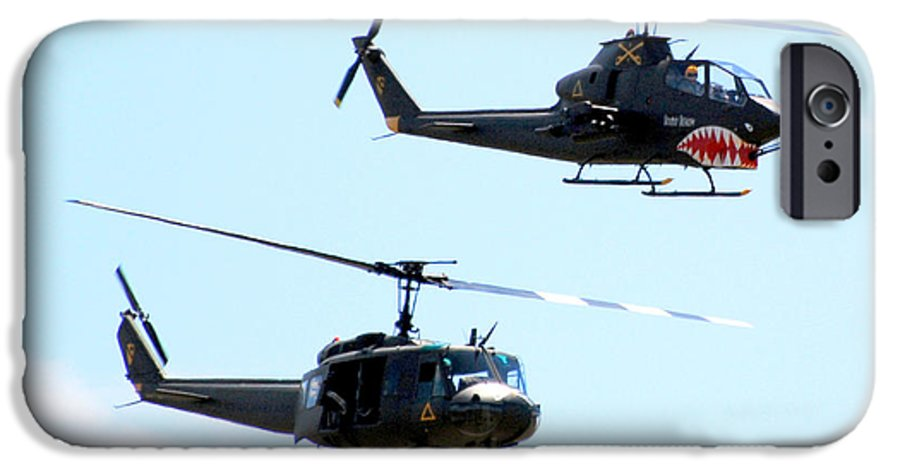 Military IPhone 6 Case featuring the photograph Cobra And Huey by Larry Keahey