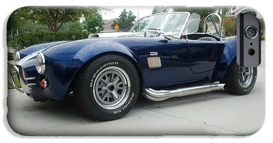 Chrome Wheels IPhone 6 Case featuring the photograph Cobra by Margaret Fortunato