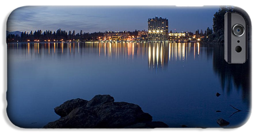 Skyline IPhone 6 Case featuring the photograph Coeur D Alene Skyline Night by Idaho Scenic Images Linda Lantzy