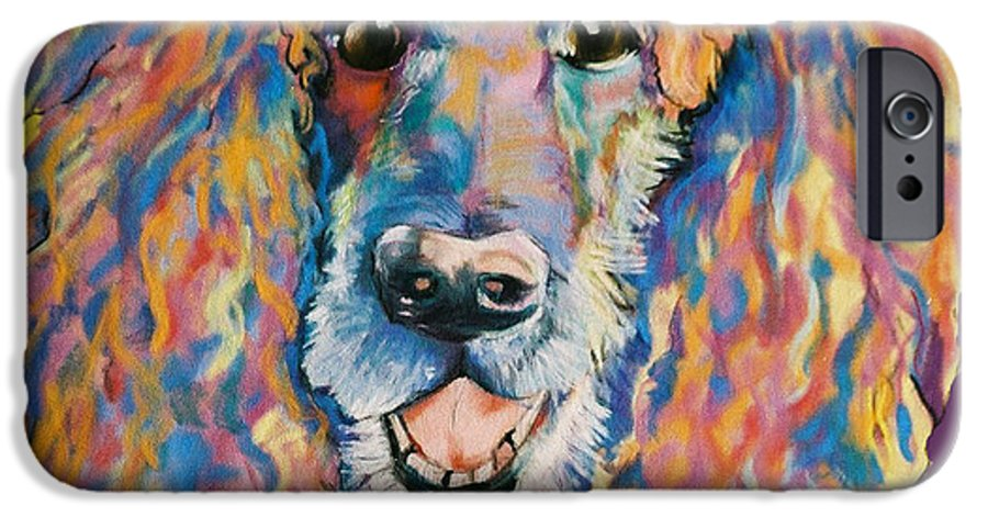 Standard Poodle IPhone 6 Case featuring the painting Cole by Pat Saunders-White