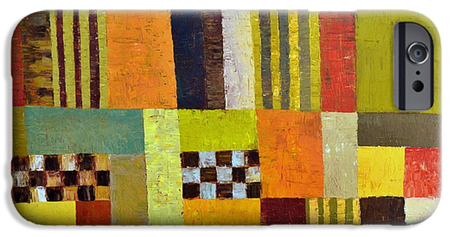 Colorful IPhone 6 Case featuring the painting Color And Pattern Abstract by Michelle Calkins