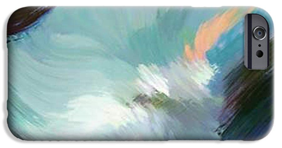 Landscape Digital Art IPhone 6 Case featuring the digital art Color Falls by Anil Nene