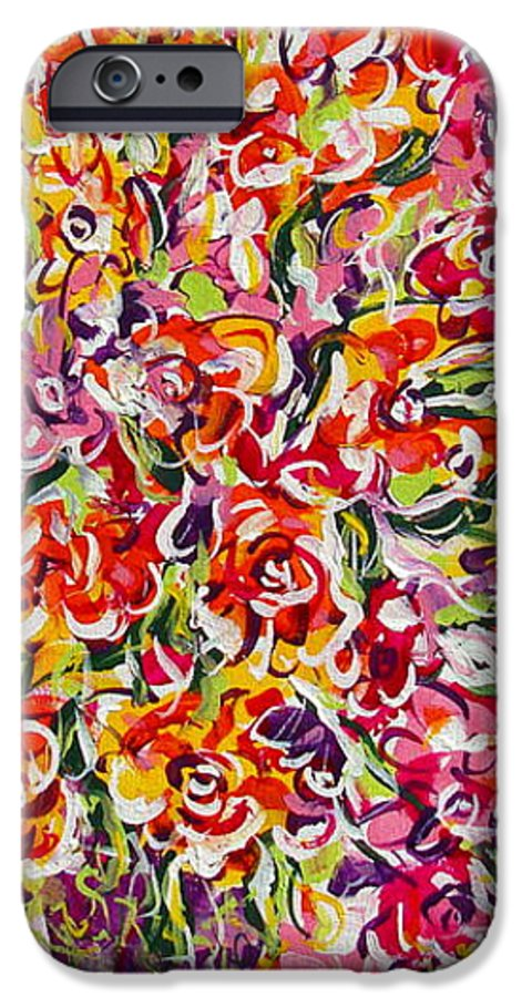 Framed Prints IPhone 6 Case featuring the painting Colorful Organza by Natalie Holland