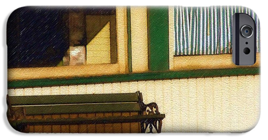 Bench IPhone 6 Case featuring the photograph Come Sit A Spell by Sandy MacGowan