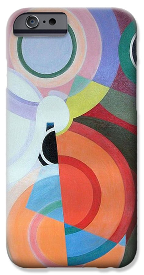 Abstract IPhone 6 Case featuring the painting Complement by Muriel Dolemieux
