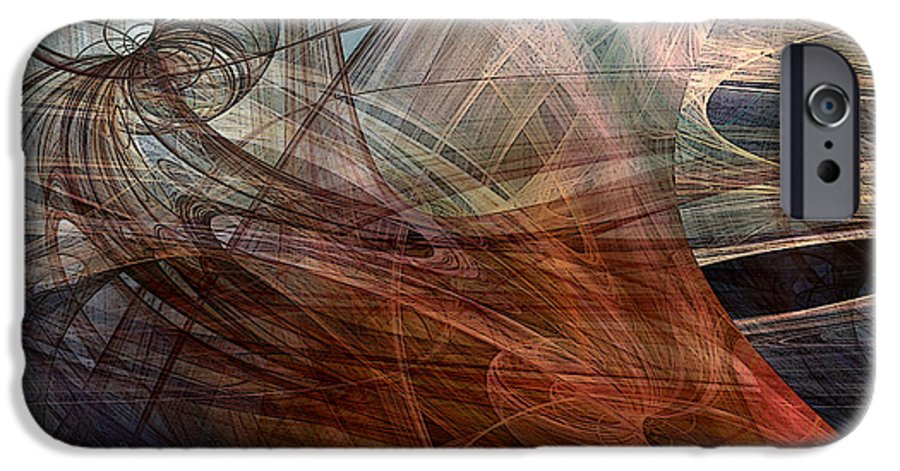Abstract IPhone 6 Case featuring the digital art Complex Decisions by Ruth Palmer