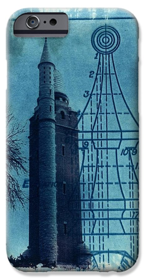 Alternative Process Photography IPhone 6 Case featuring the photograph Compton Blueprint by Jane Linders