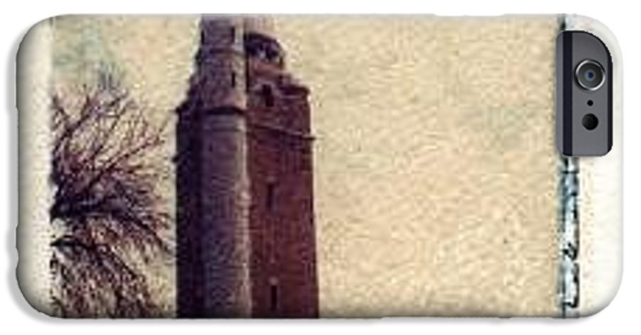 Polaroid Transfer IPhone 6 Case featuring the photograph Compton Water Tower by Jane Linders