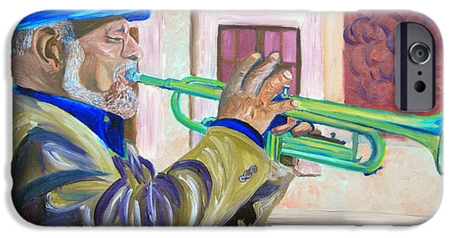 Street Musician IPhone 6 Case featuring the painting Confederate Bugular by Michael Lee