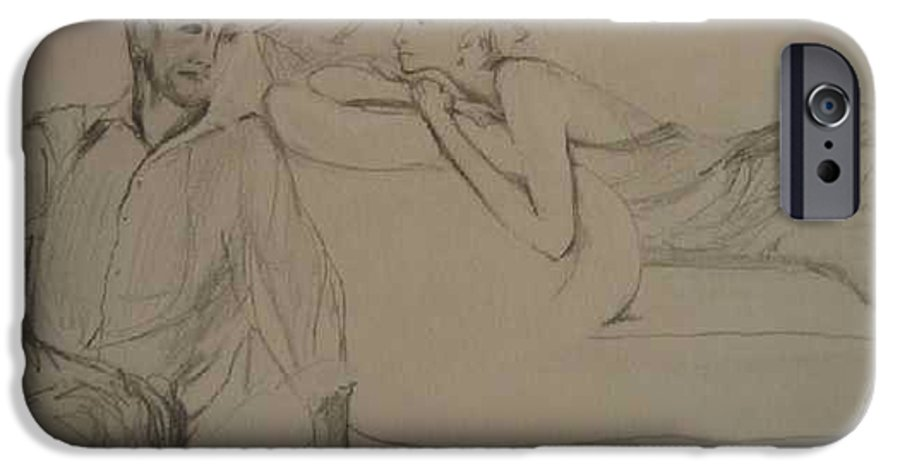 Seduction IPhone 6 Case featuring the painting Contentment by Lizzy Forrester
