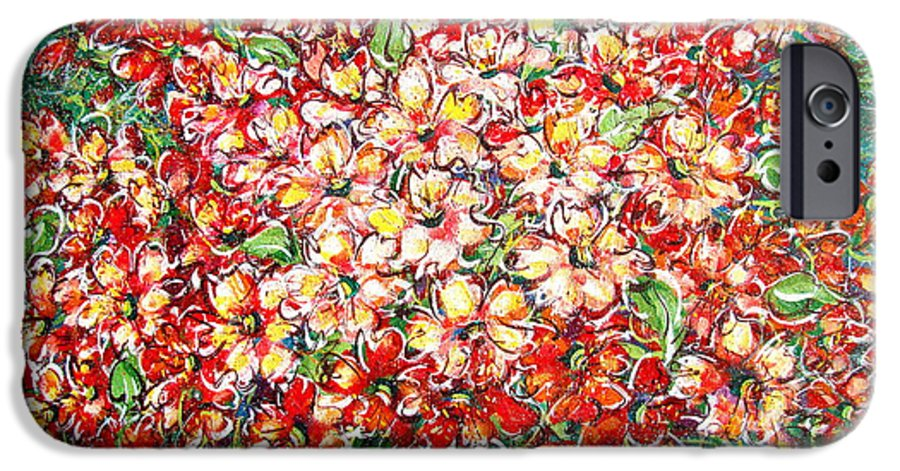 Flowers IPhone 6 Case featuring the painting Cottage Garden Flowers by Natalie Holland
