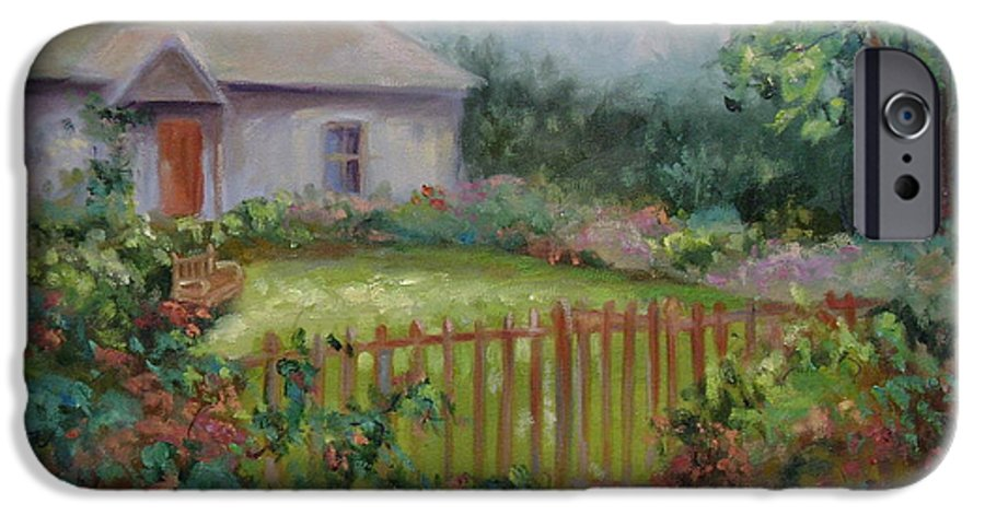 Cottswold IPhone 6 Case featuring the painting Cottswold Cottage by Ginger Concepcion