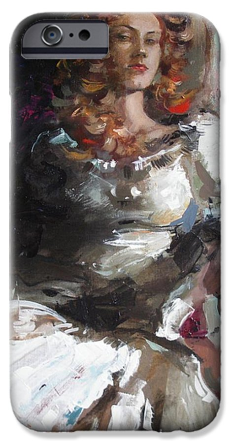 Ignatenko IPhone 6 Case featuring the painting Countess by Sergey Ignatenko