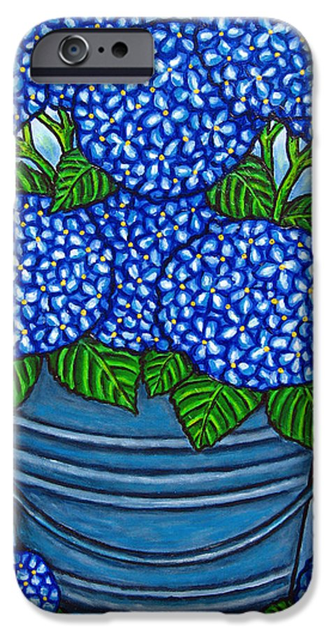 Blue IPhone 6 Case featuring the painting Country Blues by Lisa Lorenz