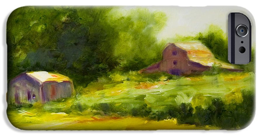 Landscape In Green IPhone 6 Case featuring the painting Courage by Shannon Grissom