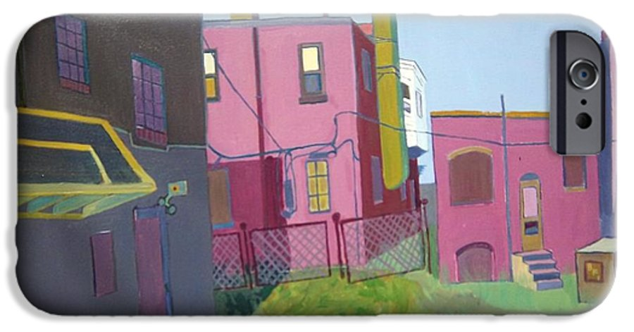 Alleyway IPhone 6 Case featuring the painting Courtyard View by Debra Bretton Robinson