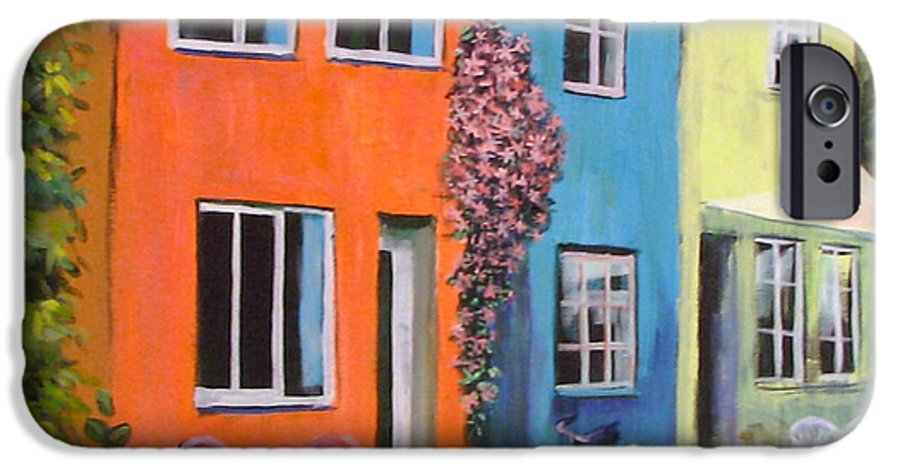 Cozy IPhone 6 Case featuring the painting Cozy Street by Art Nomad Sandra Hansen