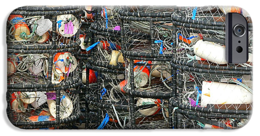 Crabs IPhone 6 Case featuring the photograph Crab Traps by Larry Keahey