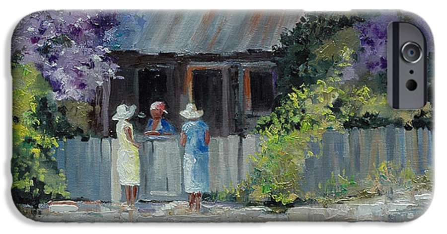 Floral IPhone 6 Case featuring the painting Crape Myrtle And Ladies Of Darien by Glenn Secrest