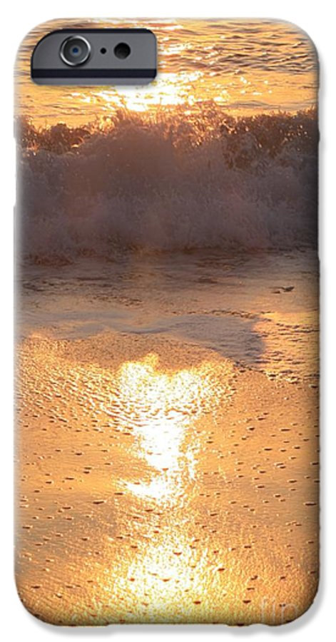 Waves IPhone 6 Case featuring the photograph Crashing Wave At Sunrise by Nadine Rippelmeyer