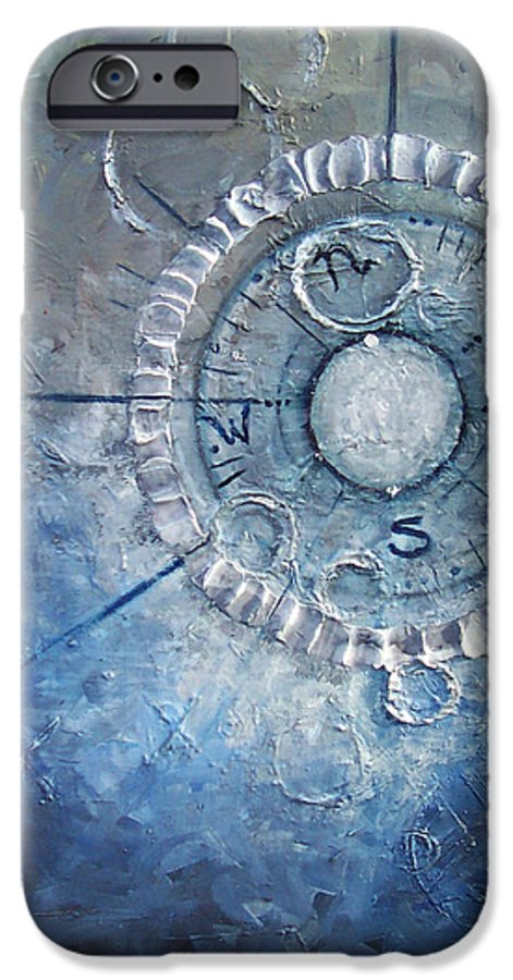 Contemporary IPhone 6 Case featuring the painting Creation by Laura Sherrill