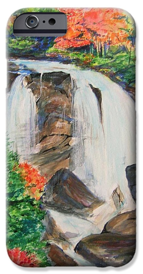 Creek IPhone 6 Case featuring the painting Creek In Autumn by Lizzy Forrester