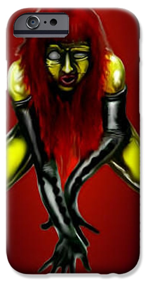 Pin-up IPhone 6 Case featuring the digital art Crimson Gold by Will Le Beouf