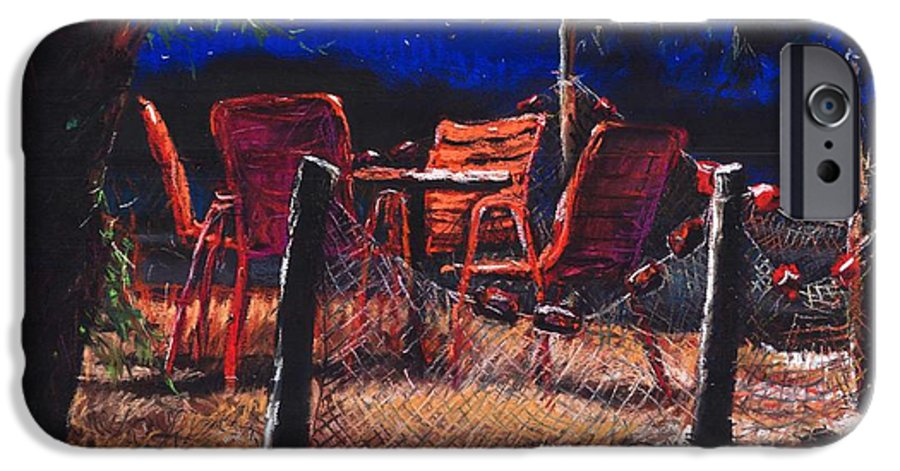 Pastel IPhone 6 Case featuring the painting Croatia Fisherman Restaurant by Yuriy Shevchuk