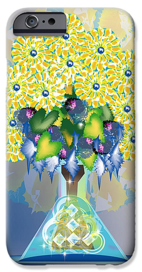 Flowers IPhone 6 Case featuring the digital art Crystal Boquet by George Pasini